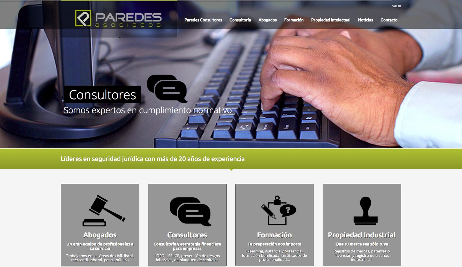 Paredes Consultores inaugura su nuevo sitio web