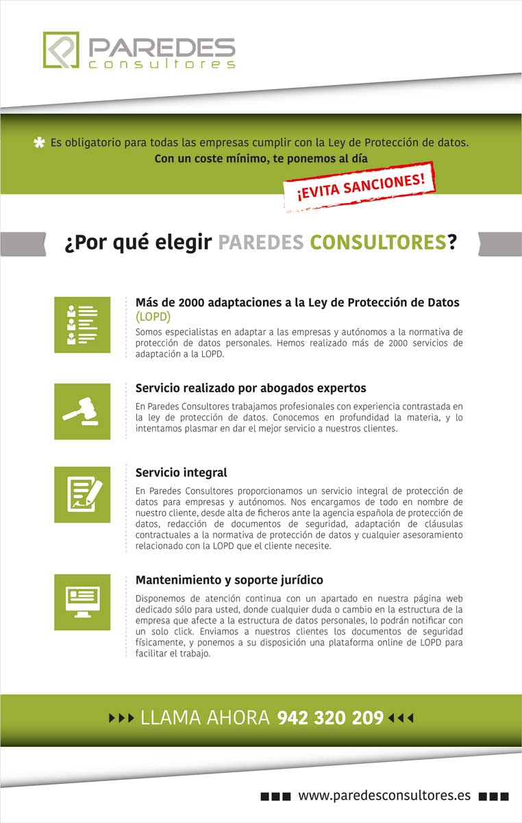 Ley de Protección de Datos Cantabria